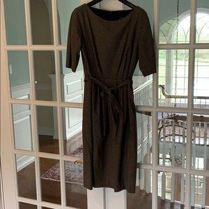 Max Mara Weekend Navy/camel houndstooth dress